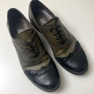 Moma Italian Leather Saddle Shoe